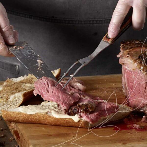 Our medium rare prime rib sandwich at Metropolitan Market almost dissolves in your mouth. #BestofMet